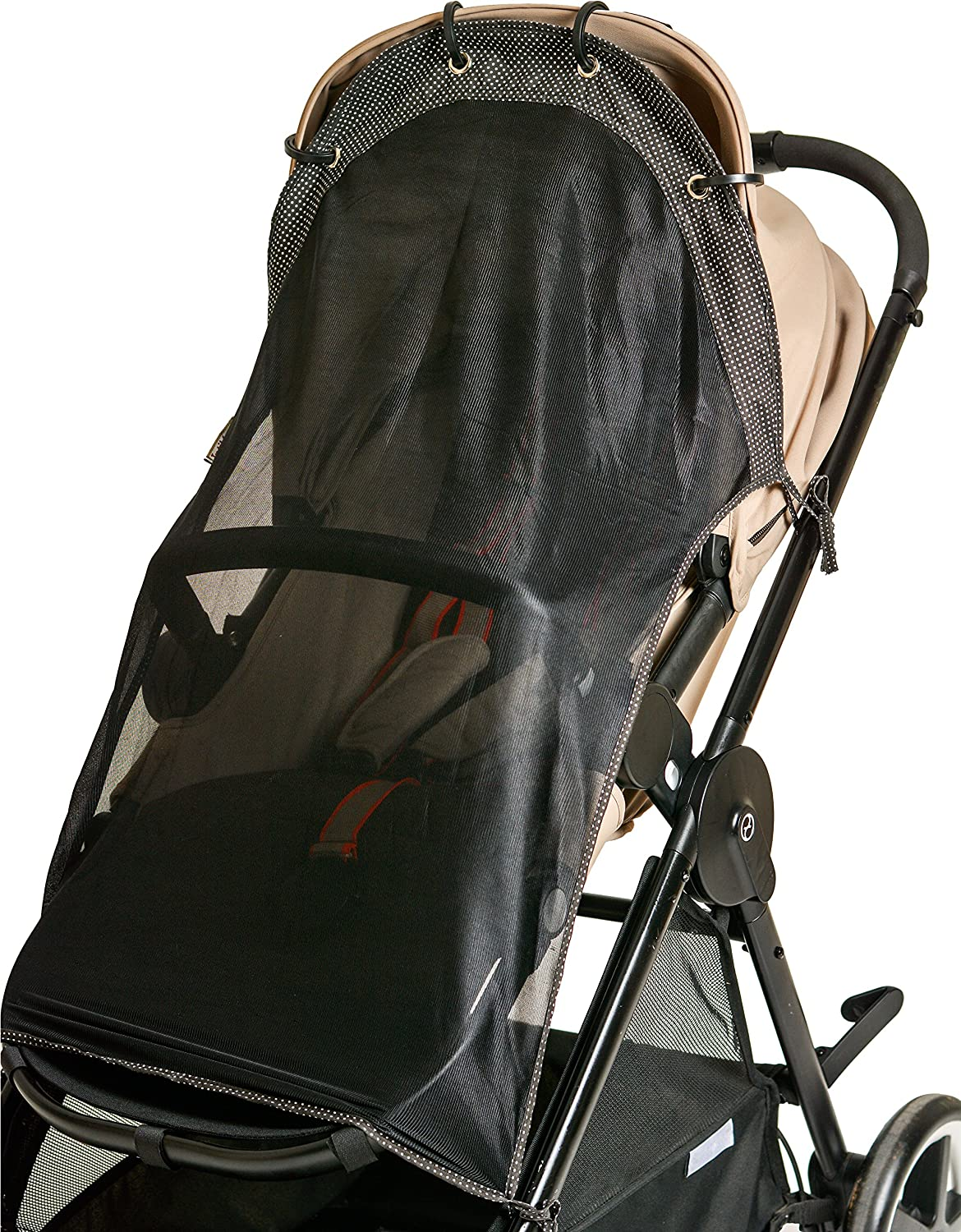 Sun Shade for Strollers (Long). Universal Adjustable SPF 30+ Sunshade with See Through. Your Baby Will See the World and Will Be Protected. byIntiMom Topalyz