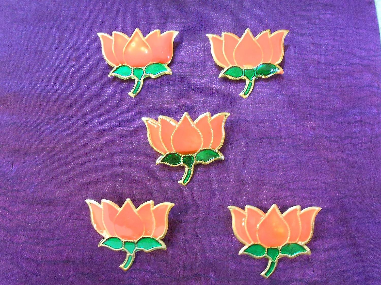Buy Samriddhi B J P Party Logo Badge Lotus Kamal Flower Phool
