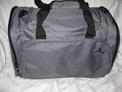 Image Unavailable. Image not available for. Color  Nike Air Jordan Duffle  Gym Bag Basketball Gray Black Duffel 5bfcaf1c45ac2