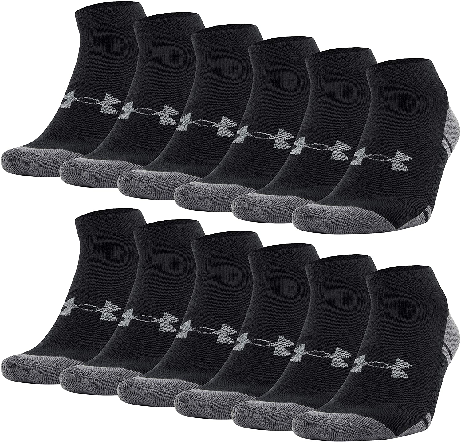 Under Armour UA Resistor III No Show Socks Pack of 6 Size M-L-XL