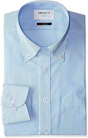 (オリヒカ) ORIHICA ボタンダウンシャツ ブルー ストライプ SFLB3836 ブルー L