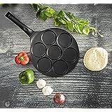 Royalford Die-Cast Non-Stick Danish Pancake Pan/Kuzhi Paniyaram Maker, RF5781, Black, 20.5 cm (8 inch), Aluminum