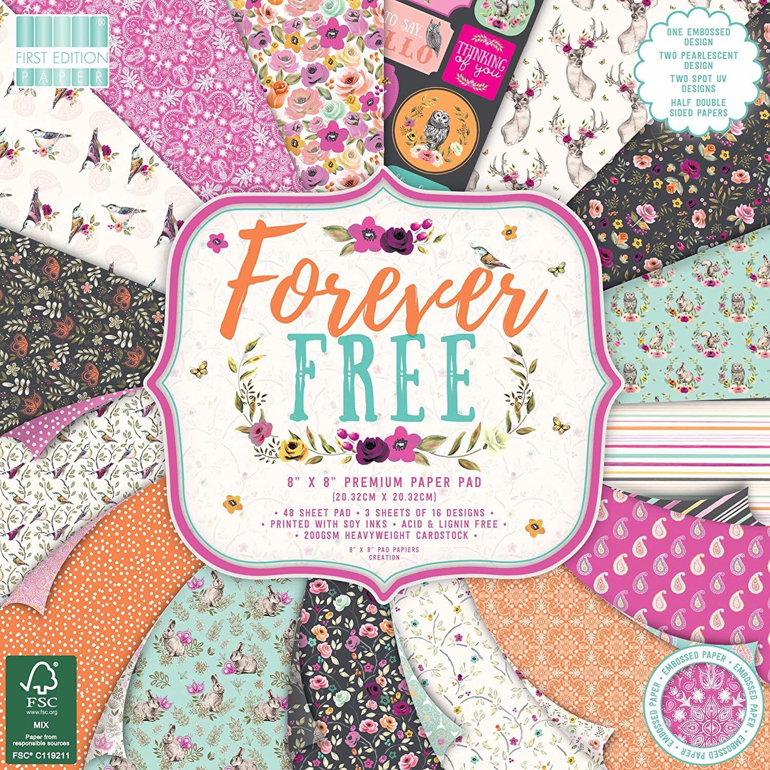 FSC First Edition Forever Free Premium Paper Pad 12x12 48 Sheets