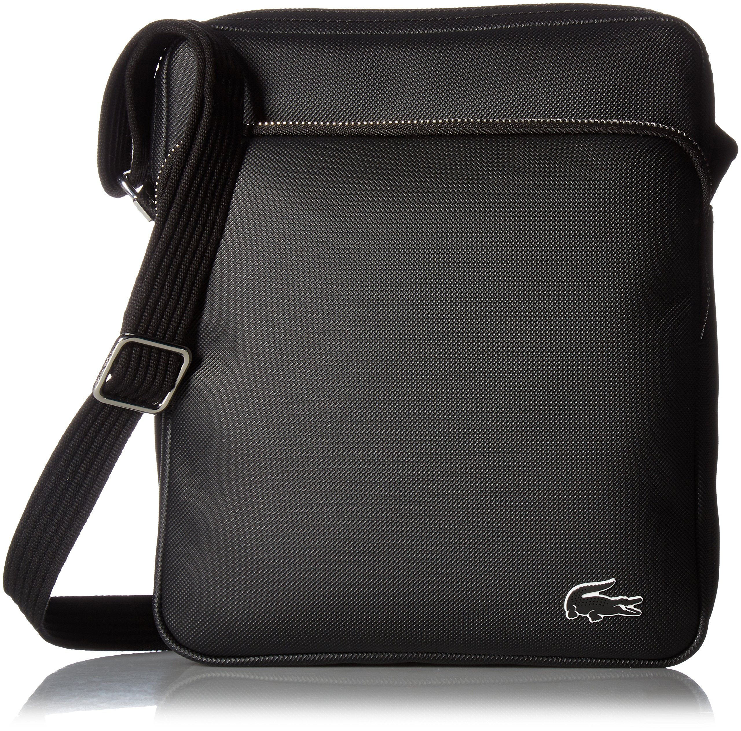 Lacoste Men's Crossover Bag with Pockets, Black