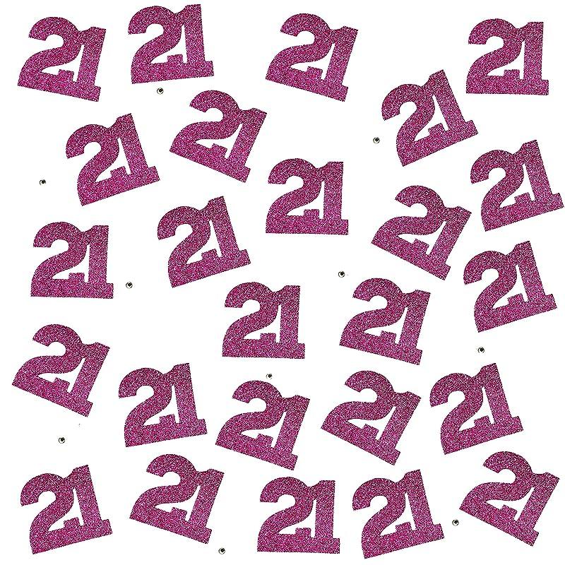 Girls 1st Birthday Pink Glitter Table Decoration 35cm