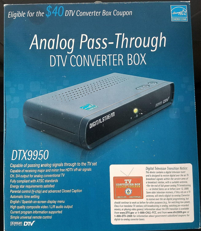 Amazon.com: Digital Stream Analog Pass-through DTV Converter Box ...