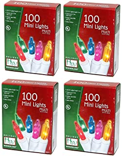 Aurio Outdoor//Indoor Christmas Lights 50-Count Snowflake LED Bulbs 16.3FT Warm White AU-CL50SF-WW