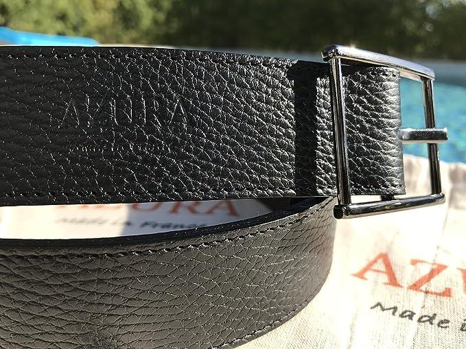 8961584cde5 AZURA Made in France Ceinture Homme Réversible Noir Marron (42-90)   Amazon.fr  Vêtements et accessoires