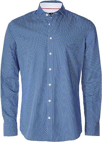 Camisa Hackett Leaf Print Azul para Hombre L Azul: Amazon.es: Ropa y accesorios