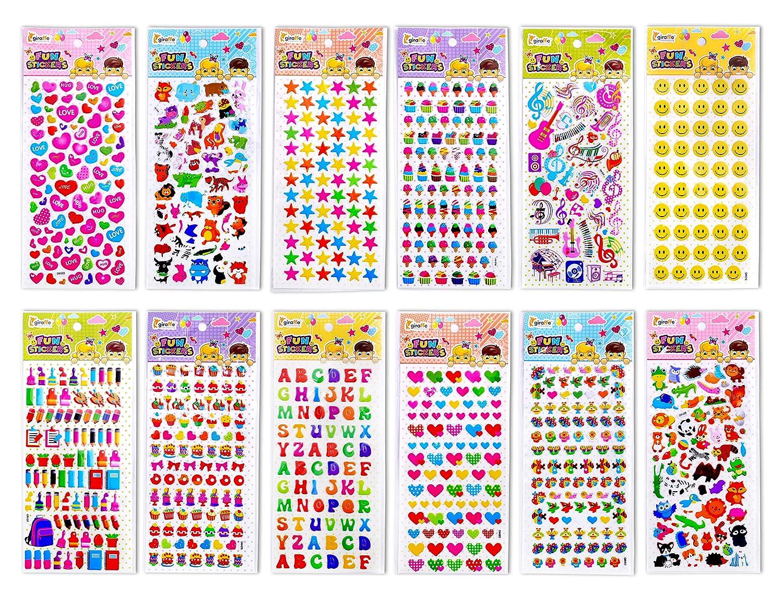3D Puffy Giraffe Kids Play Stickers Giraffe Manufacturing 1650+ Stickers