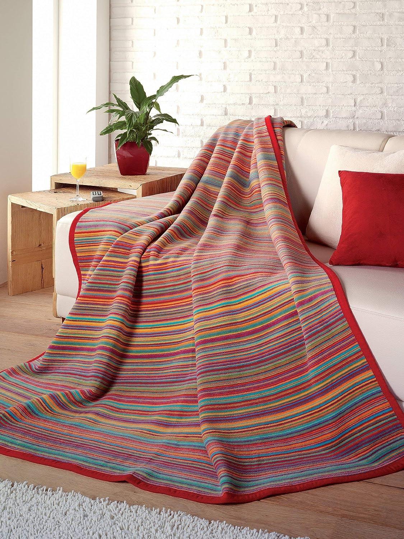 Cotton//Polyester Texture Striped Throw Blanket Rug 130 x 200 cm