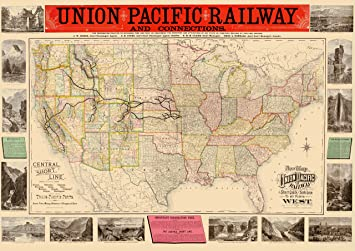 Amazon.com: MAPS OF THE PAST Union Pacific Railway - Rand ... on union pacific business cars, union pacific idaho map, union pacific service map, rio grande railroad map utah, map of utah, union pacific rail map, union pacific train routes, gold spike utah, union pacific passenger trains, usgs map utah, union pacific dome car, union pacific track map, union pacific overland, union pacific network map, union pacific salt lake city, union pacific railway map, union pacific elko nv, union pacific nebraska, union pacific dining car menus, union pacific subdivisions map,
