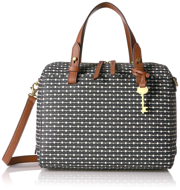 2c760e029 Fossil Rachel Satchel Handbag, Black Dot: Handbags: Amazon.com