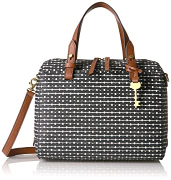 Amazon.com  Fossil Rachel Satchel Handbag, Black Dot  Industrial    Scientific ed12dbd49f