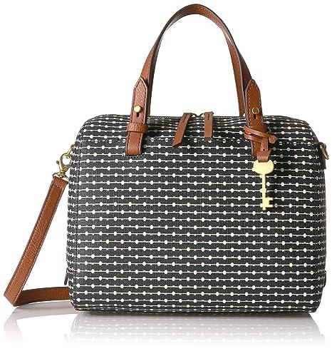cefd7ddafdbd Fossil Rachel Satchel Handbag, Black Dot: Handbags: Amazon.com