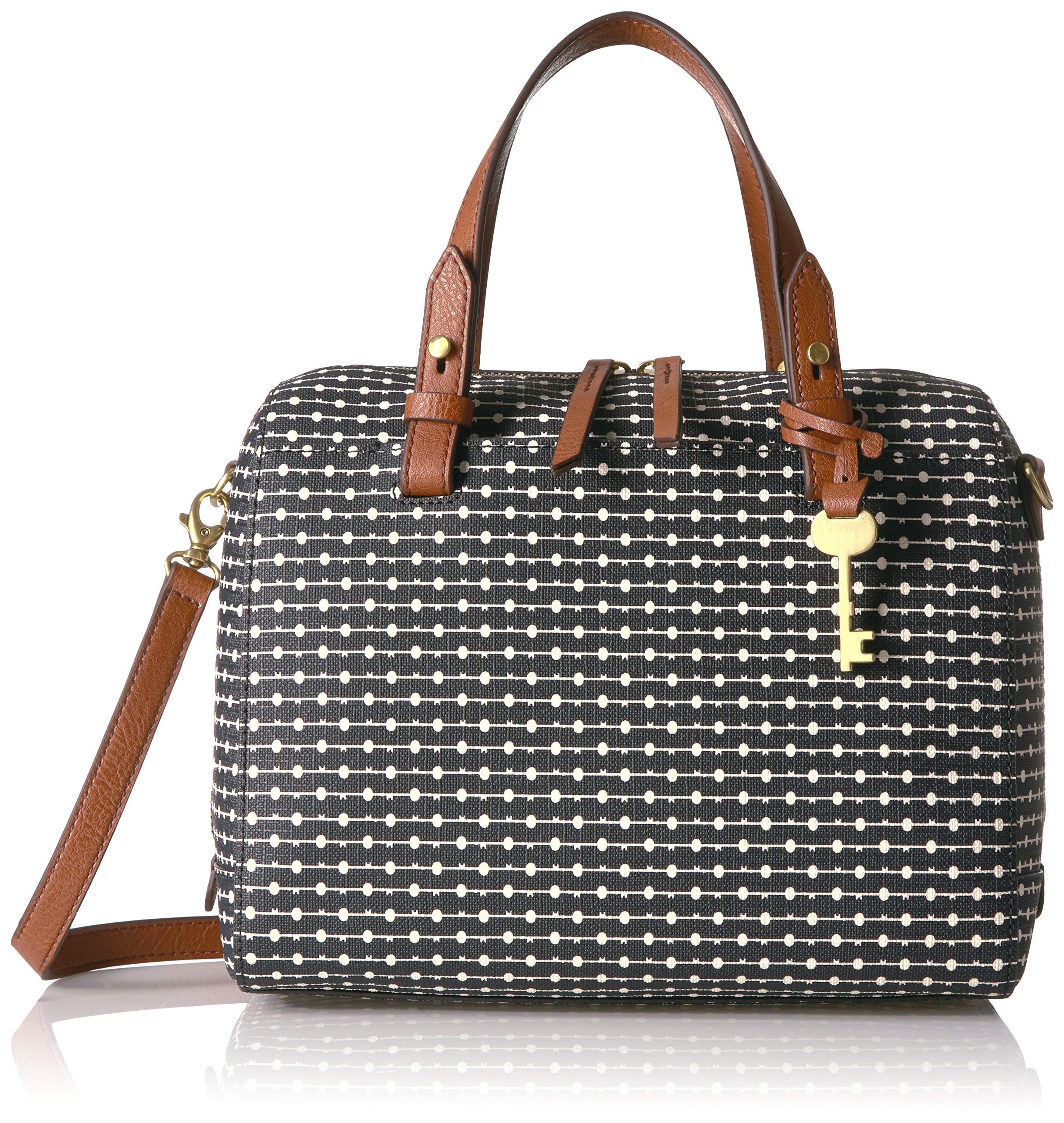 Fossil Rachel Satchel Handbag, Black Dot by Fossil (Image #1)