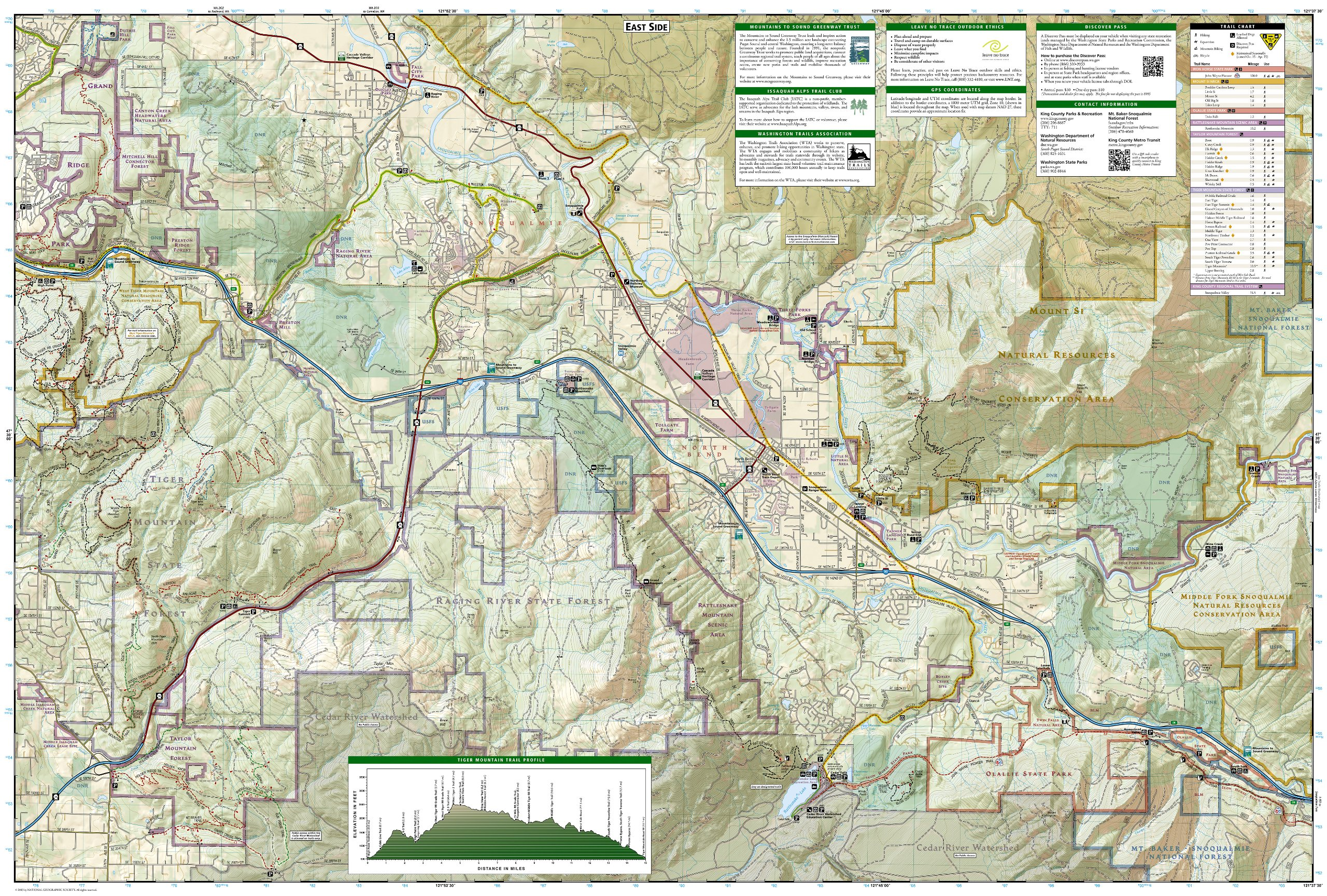 Issaquah Alps, Mount Si (National Geographic Trails Illustrated Map ...