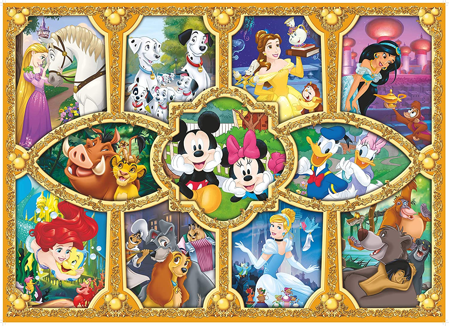 King 5279 Disney Magical Moments Jigsaw Puzzle 1000-Piece
