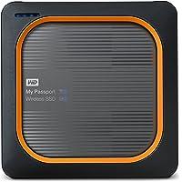 WD My Passport Wireless SSD - mobile 500GB externe Festplatte. SD-Karten-Backup auf Knopfdruck, WLAN, 4K Streaming, interg. Akku und SD Kartenleser
