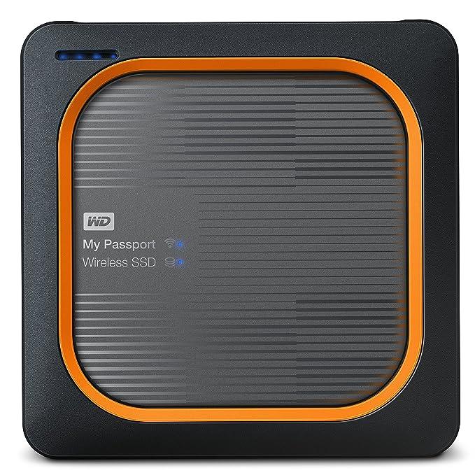 Western Digital My Passport - Disco duro externo, Wireless SSD, 500 GB, color negro y rojo