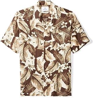 ec47c0632 Amazon Brand - 28 Palms Men's Relaxed-Fit Silk/Linen Tropical Hawaiian Shirt