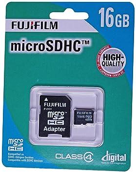 Fujifilm 4004269 - Tarjeta microSD de 16 GB (adaptador SD ...