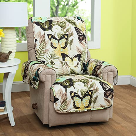 innovative textile solutions 9214recl butterfly recliner or wing chair protector multicolor