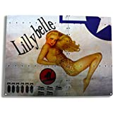 Lillybelle Airplane Nose Art Metal Sign, Foxy Blonde Pinup, WW II Bomber Poster