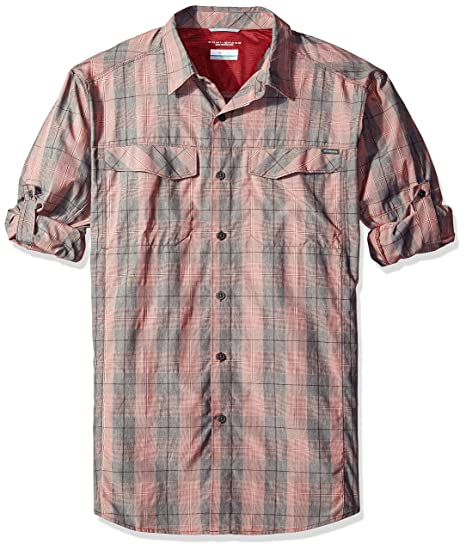 1ddcd6ebcd3 Columbia Men's Silver Ridge Plaid Long Sleeve Shirt, Red Element Heathered,  Large Tall