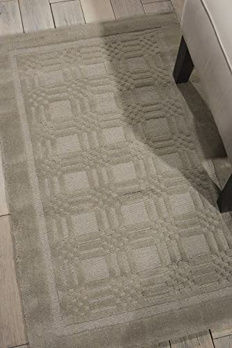 Nourison Westport Grey Rectangle Area Rug, 3-Feet 6-Inches by 5-Feet 6-Inches 3 6 x 5 6