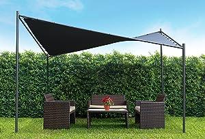 "Coolaroo Butterfly Gazebo, Backyard or Patio Gazebo, 99% UV Block, Steel Frame, (13'1"" X 13'1""), Charcoal"