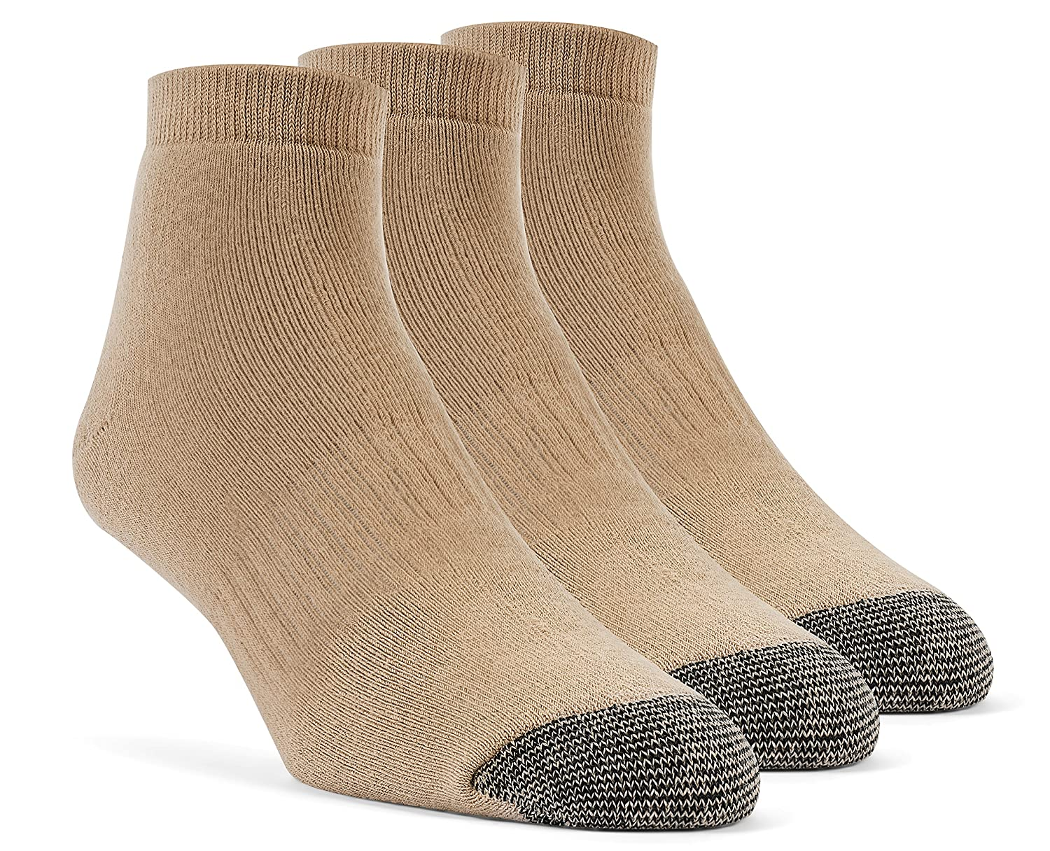 3 Pairs YolBer Womens Cotton Super Soft Ankle Cushion Socks