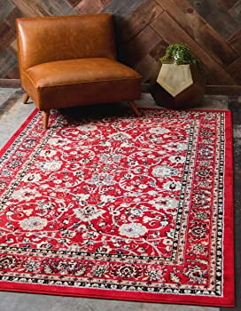 Unique Loom Sialk Hill Washington Red 2'x3' Area Rug