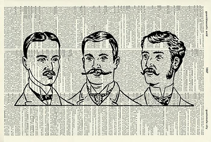 amazon com men s hairstyles vintage art print male art print