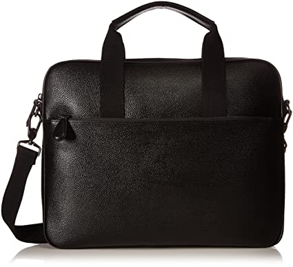 788afe1256 Amazon.com: Ted Baker Men's Morcor Leather Document Bag, Black: Clothing
