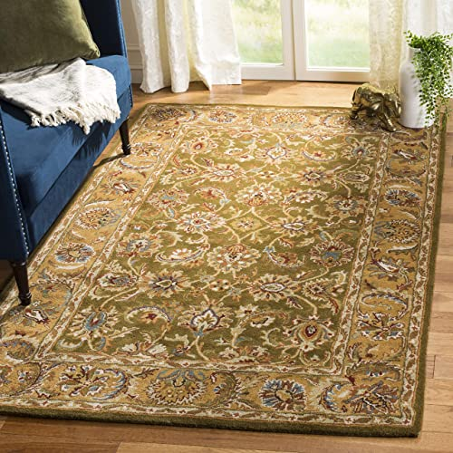 Safavieh Classic Collection CL758M Handmade Traditional Oriental Olive and Camel Wool Area Rug 9 6 x 13 6