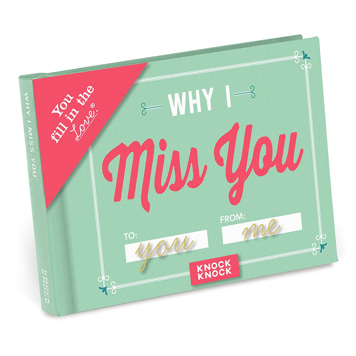 """Amazon.com: Knock Knock Why I Miss You Fill in the Love Journal, 4.5"""" x  3.25"""" (50259): Office Products"""
