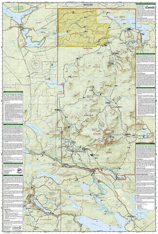 Amazoncom Baxter State Park Mount Katahdin Katahdin Iron Works - Mt katahdin trail map