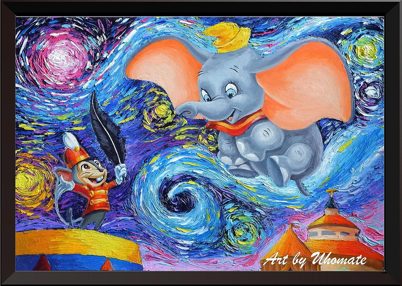 Amazon.com: Uhomate Dumbo Flying Elephant Wall Decor Vincent Van ...