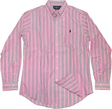 ralph lauren green striped shirt