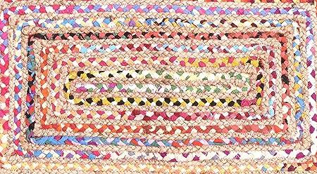 Indio de algodón hecho a mano tradicional alfombra algodón yute alfombra yute trenzado de algodón alfombra