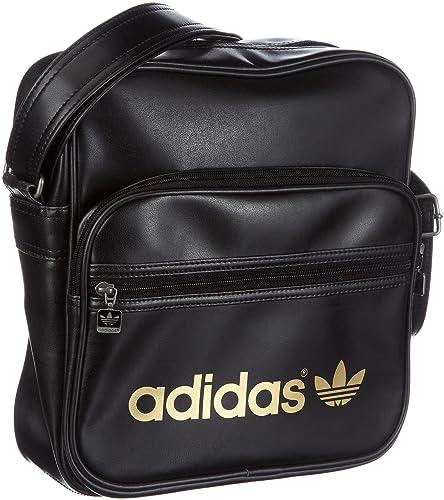1e9d4eaab1 adidas Originals Ac Sir Bag, Pochette multisport homme - Noir, Cuir ...