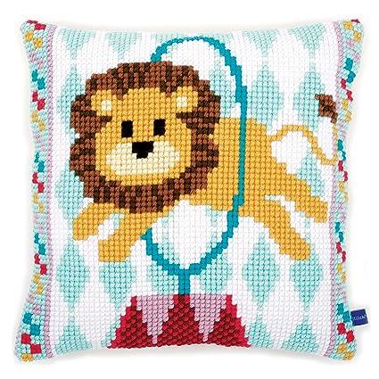 Amazon.com: Vervaco Cross Stitch Cushion: Circus Lion