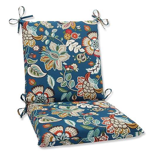 Pillow Perfect Outdoor Telfair Squared Corners Chair Cushion, Peacock