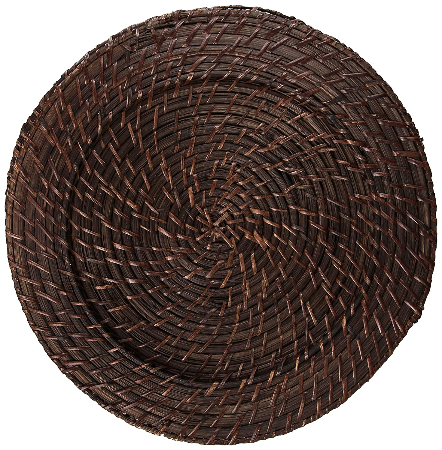 Rattan Dark Brown Charger Set of 4