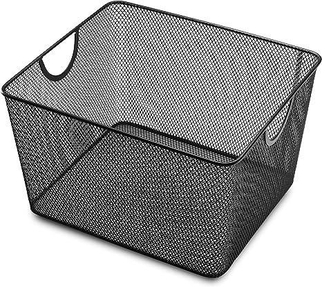 H 6 Pack L x 9 in Ybm Home Wire Mesh Open Bin Basket Silver 10 in W x 6 in