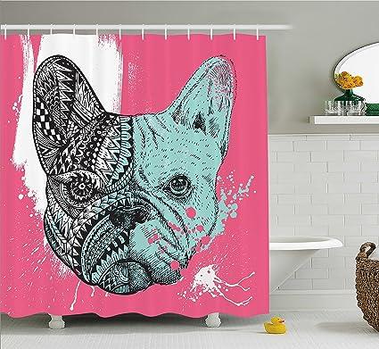 Amazon Ambesonne Modern Shower Curtain By French Bulldog Split