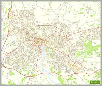 ipswich street map paper size 190 x 160 cm approx