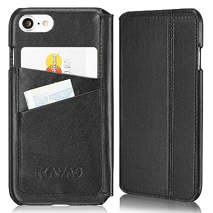 Amazon Com Kavaj Iphone 8 Iphone 7 Case Leather Dallas Black Slim