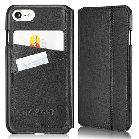 KAVAJ Funda iPhone 8 iPhone 7 Case Dallas Negra Piel ...